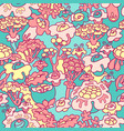 hand drawn floral cute seamless pattern with vector image
