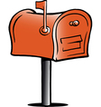 Hand-drawn of an Mailbox vector image