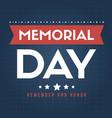 happy memorial day gretting card vector image vector image