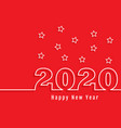 happy new year number outline background vector image vector image