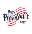 happy presidents day background or banner g vector image vector image