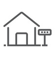 home for rent line icon real estate and home vector image vector image