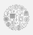 hydropower concept circular vector image