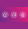 hygrometer humidity linear icons vector image vector image