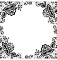 lace frame on white background vector image