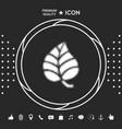 leaf symbol - halftone logo graphic elements for vector image