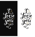 Love card with lettering vector image vector image