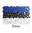 love estonia tallinn flag heart glossy mosaic vector image