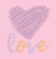 love for printing textile art design decorative vector image vector image