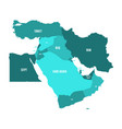 map of middle east or near east in shades of vector image vector image
