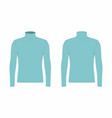 mens blue long sleeve t shirt vector image vector image
