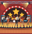music band cartoon vector image