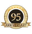Ninety Five Year Anniversary Badge vector image vector image