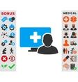 Online Medicine Icon vector image