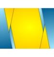 Orange blue contrast corporate background vector image vector image