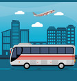 public bus city daylight vector image