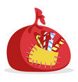 red bag filled with candies for xmas holidays vector image