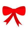 red ribbon christmas bow icon decoration element vector image vector image