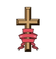 religious cross icon vector image