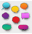 retro speech bubble transparent background vector image vector image