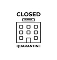 school closed due to coronavirus news information vector image vector image