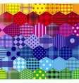 Seamless background 46 geometric patterns vector image