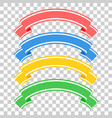 set of colored ribbon banners with space for text vector image vector image