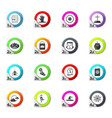 set of halloween icons set vector image vector image