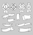 set of ribbons vector image vector image