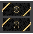 Set of two horizontal banners on a dark background vector image vector image