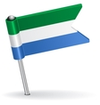 Sierra Leone pin icon flag vector image vector image