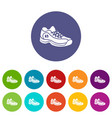 sneakers icons set color vector image vector image