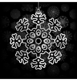 Snowflakes background with space for text EPS8 vector image vector image