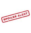 Spoiler Alert Rubber Stamp vector image vector image