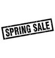 square grunge black spring sale stamp vector image vector image