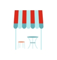 Street french cafe icon flat style vector image
