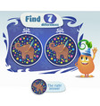 task find 7 differences elephant vector image