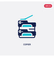 two color copier icon from electronic devices vector image vector image