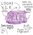 VIP sign vector image
