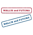 Wallis and Futuna Rubber Stamps vector image vector image