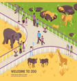 welcome to zoo composition vector image vector image