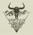 Western logo with bull head vector image