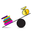 Work harder for less money vector image vector image