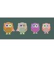 set of cute textile owls vector image