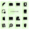 14 literature icons vector image vector image