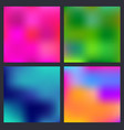 a set trendy liquid backgrounds multicolor vector image