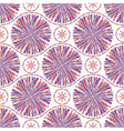 Abstract seamless pattern with striped circles vector image
