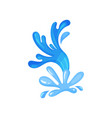 abstract water splash nature marine and nautical vector image