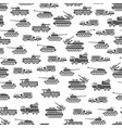 army transport seamles pattern design - military vector image