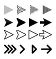 arrows collection with elegant style and black vector image vector image